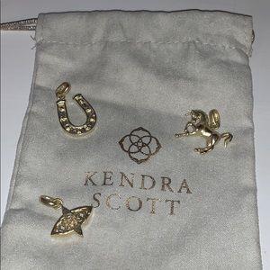 kendra scott charm set of three gold